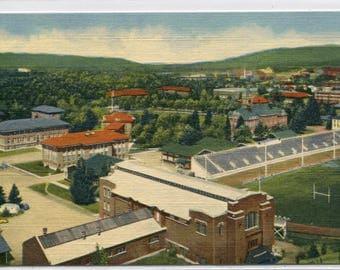 University Montana Missoula Montana MT linen postcard