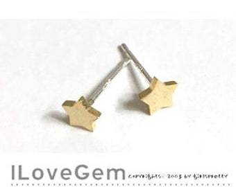 NP-1873 Gold plated, Tiny Star , Geometric stud Earrings, 925 sterling silver post, 2pcs