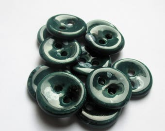 Mallard Green Ceramic Buttons