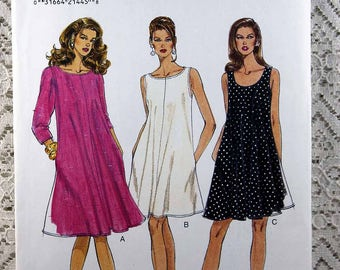 Vogue 9212, Misses' Dress Sewing Pattern, Pullover Dress Pattern, Easy Dress Sewing Pattern, Misses' Size 18, 20, 22, Uncut
