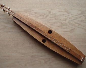 Handmade Cherry Mountain Dulcimer, 4 Strings, All Solid Wood