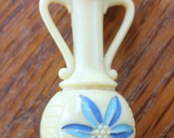 Vintage Plastic Vase Pin