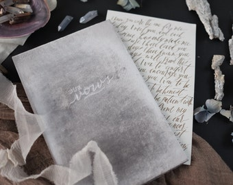 Wedding Vow Book - Archival Wedding Vow Keepsake Book - by Claire Magnolia
