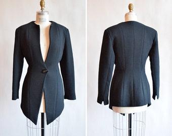 Vintage 1980s AMELIA TORO avante garde wool blazer