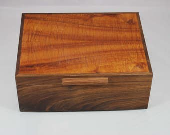 Handcrafted Walnut & Figured Koa Watch box