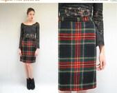 25% off sale - PENDLETON Plaid Skirt  //  Wool Mini Skirt  //  THE CAMPTON