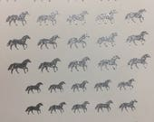 Horse Toe nail / finger nail art / tattoos / decals / stickers / pedicure