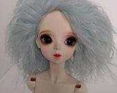 """Pale mint green size 8-9"""" BJD wig Tibetan lambswool for SD ball jointed dolls"""