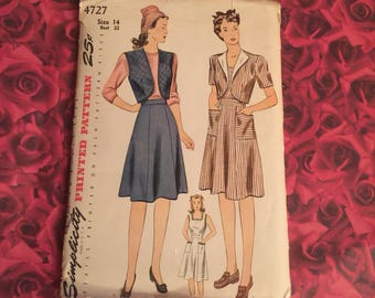 40's Vintage Simplicity Sewing Pattern