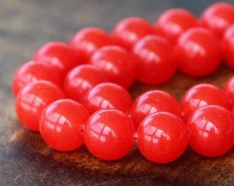 8mm Cherry Red Beads (25)