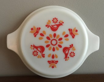 pyrex friendship 8 inch opal round casserole dish lid