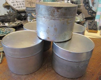 vintage film tin - industrial storage - several available - 3 x 3.75 inches