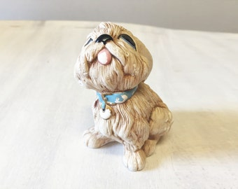 Vintage dog figurine, collectible dog, vintage figurine, dog lover, dog ornament, gift for dog lover, resin dog, dog statue, retro dog decor