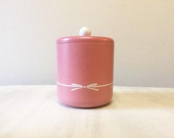 Vintage ice bucket, vintage Mary Quant, vintage barware, retro ice bucket, pink ice bucket, plastic ice bucket, bar decor, champagne bucket