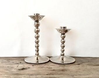 Silver candlesticks / Godinger Silver