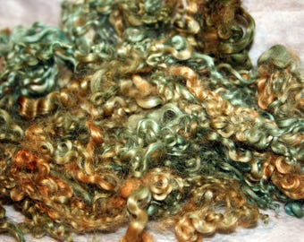 1oz Baby Wensleydale Curls, Very fine, Lusterous, Curly for special felting or spinning projects