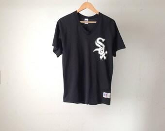 vintage CHICAGO WHITE SOX mlb Frank Thomas black and white Jersey baseball size medium