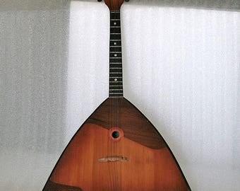 Vintage Russian Balalaika - Six String Folk Musical Instrument - 1970s - from Russia / Soviet Union / USSR