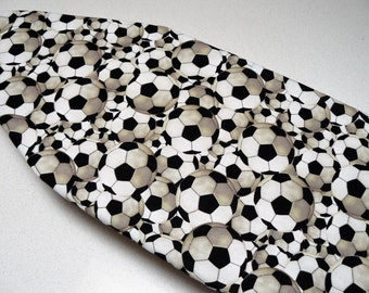 Ironing Board Cover TABLE TOP - soccor football all over for the soccor or football fan black and white