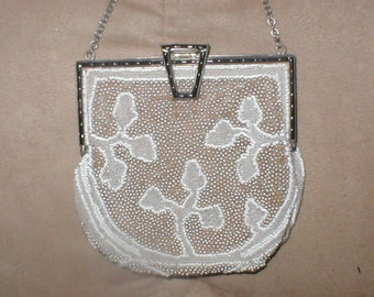 Antique French Beaded Evening Purse circa 1890's