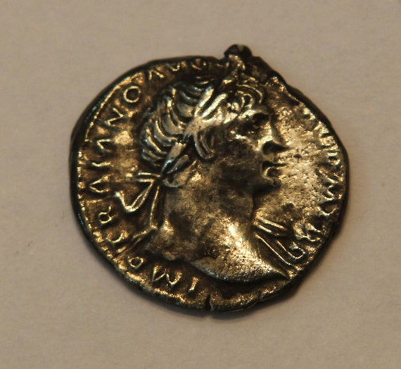 Authentic Ancient Roman Silver Denarius Trajan I 108 A.D.