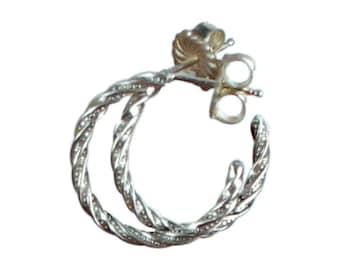 Sterling Silver HOOP EARRINGS Southwestern Wire Hoops New World Gems