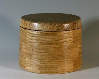 Segmented White Oak Salt Box