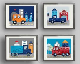 transportation art, things that go bedding art, boy nursery art prints, transportation wall art decor, transportation pictures