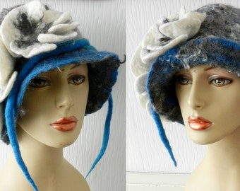Felted 100% wool hat