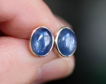 Summer Skies - Kyanite Sterling Silver Stud Earrings