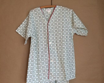 SALE ! vintage 1970's deadstock pajama set / nightshirt and shorts / mens style briefs / never been worn /  NOS /