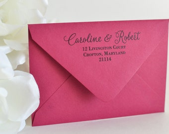 Guest and Return Addressing with Pretty Script, Includes Envelopes, Digital Calligraphy - Return and Guest Addressing for Envelopes