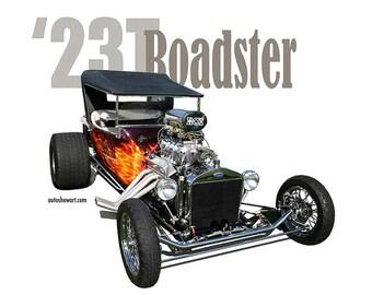 "AUTO ART T-SHIRT 1923 Ford ""T-Bucket"" Roadster"
