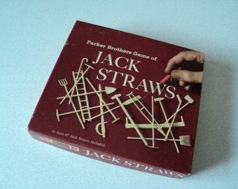 Jack Straws Game by Parker Brothers