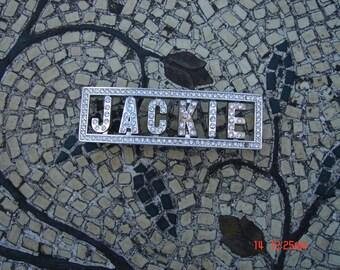 Vintage Rhinestone Bling Belt Buckle - Jackie