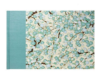 Guestbook Classic Teal Plum Blossom