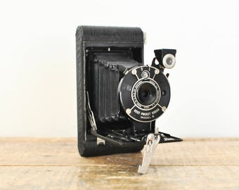 Antique Kodak Vest Pocket Model B Folding Camera Collectible Photography Decor Display
