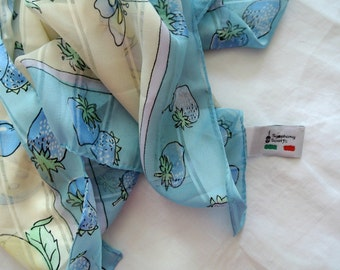 "Retro ""Symphony' Scarf-Made in Italy-Polyester"