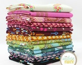 """Fibs and Fables - Half Yard Bundle - 13 - 18""""x44"""" Cuts by Anna Maria Horner for Free Spirit Quilt Fabric"""