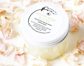 White Rose Butter - Infused Rose Petals, Silky Moisturizer, Organic, Vegan, 2 oz jar