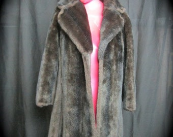 Vintage Faux Fur Open Front Coat - Faux Mink Coat -Mincara Styled By Russel Taylor -Vintage 1960's 1970's Fur Coat - Vintage Fur