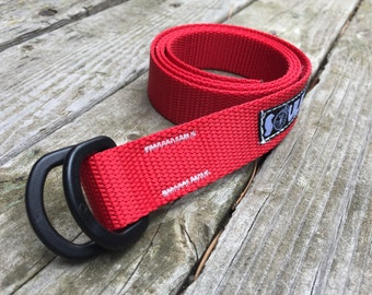 Soulrun Skinny Nylon Belt - Red