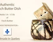 RESERVED for Magdalena.  French Butter Keeper, Butter Dish, Soft Butter Keeper, Beurrier Breton