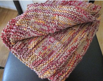 Spring Sale knit fall colors throw/baby blanket