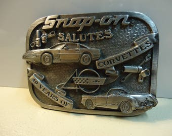 Snap On Belt Buckle Snap On Salutes 40 Years of Corvette