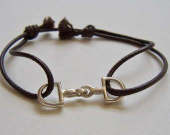 Small Bit, Bracelet, Equestrian, Horses, Gift for Women, Country girl, Unique, Handmade, Chic, Silver