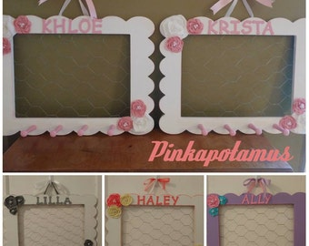 Personalized Hair Bow Holder - Hair Bow Organizer - Hair Bow Holder Frame - Girls Accessory Organizer