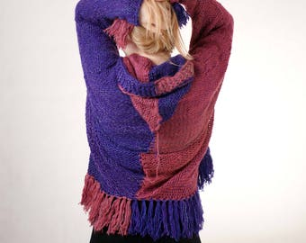 Multicolor Plus size Sweater Multicolor Oversize Sweater Full Figure Sweater Curvy sweater Cardigan
