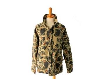 60% off sale // Vintage 80s Camouflage Army Jacket // Men Medium Regular // Punk Grunge Halloween