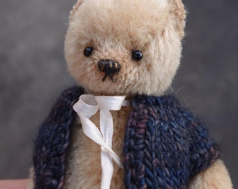 Billie, Miniature Mohair Artist Teddy Bear from Aerlinn Bears